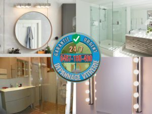 Pose et Remplacement de miroir dans la salle de bain et dans toutes les pièces de la maison